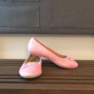 NWT pink sparkly girls flats!!!!